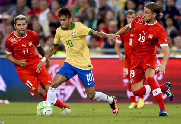 Neymar Brazil Switzerland World Cup friendly