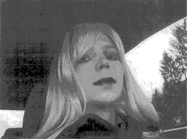 U.S. Army Pfc. Bradley Manning, the soldier convicted of giving classified state documents to WikiLeaks, is pictured dressed as a ...