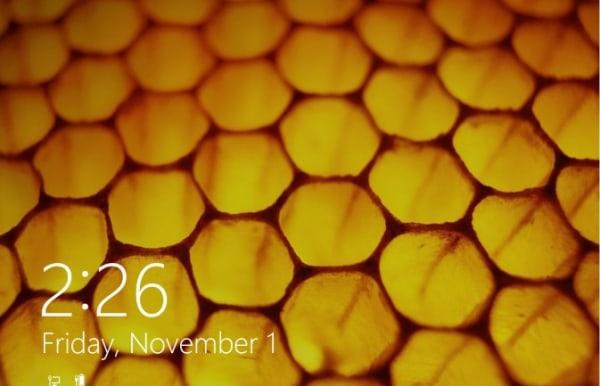 IMAGE: Windows 8.1 lock screen