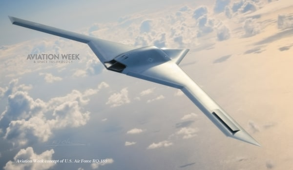 IMAGE: Aviation Week conceptual image of U.S. Air Force RQ-180