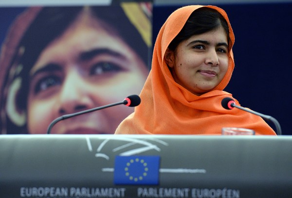 Pakistani teenager Malala Yousafzai addresses on November 20, 2013 the European Parliament assembly after receiving the EU's prestigious Sakharov human rights prize in recognition of her crusade for the right to education for all.