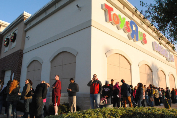 First Kohl's said it would stay open 100 hours straight until Christmas. Then, Toys R Us jumped on the holiday shopping marathon bandwagon.