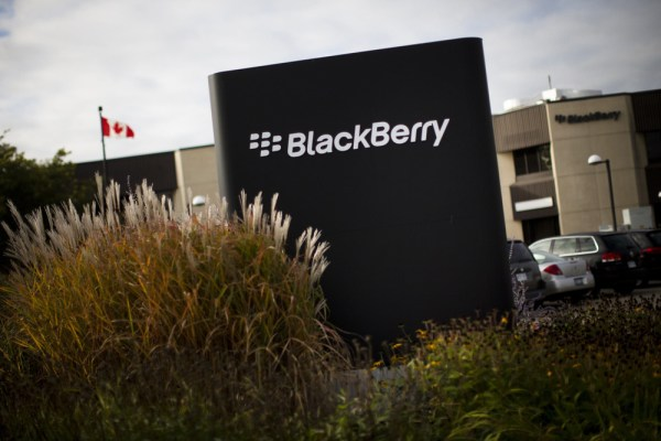 A sign is seen at the Blackberry campus in Waterloo, Ontario, in this file photo taken September 23, 2013.