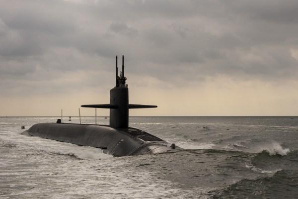The Ohio-class ballistic missile submarine USS Maryland.