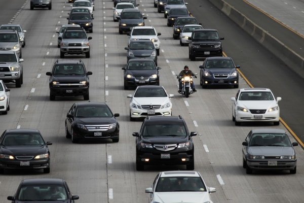 LOS ANGELES, CA - APRIL 25:  Morning traffic fills the SR2 freeway on April 25, 2013 in Los Angeles, California. The nation's second largest city, Los...