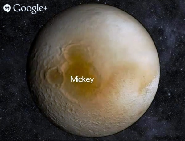 Image: Mickey on Pluto