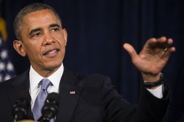 U.S. President Barack Obama speaks about Affordable Care Act at The Fairmont Hotel on June 6, 2013 in San Jose, Calif.