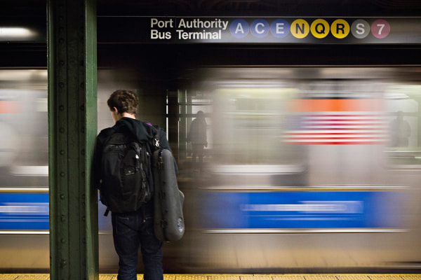 A man waits for the subway at the Times Square stop in New York, December 19, 2012. New York's Metropolitan Transportation Authority, the biggest tran...