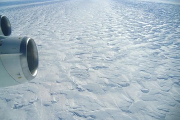 Luftaufnahme des Pine-Island-Gletscher / Arial shot of the Pine Island Glacier
