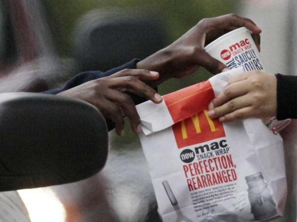 Image: McDonald's worker