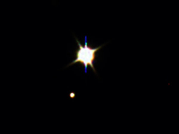 Image: Earth and moon