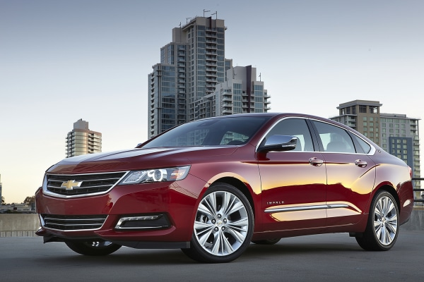 This undated photo provided by Chevrolet shows the 2014 Chevrolet Impala LTZ. A completely reworked version of the full-size car has taken Consumer Re...