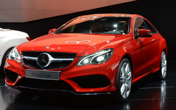 The Mercedes-benz E-class Coupe is introduced at the 2013 North American International Auto Show in Detroit, Michigan, January 14, 2013. AFP PHOTO/Sta...