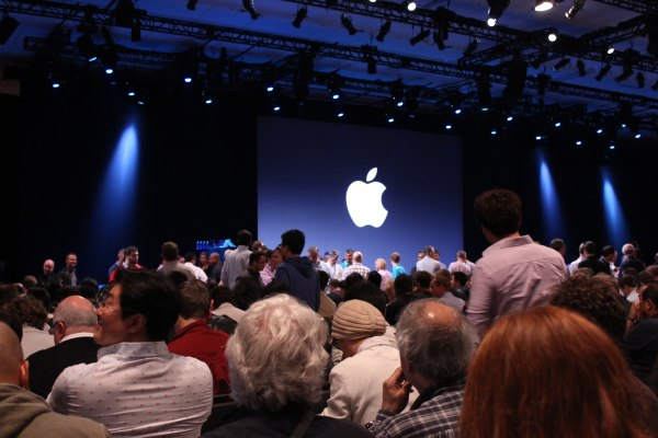 stage at Moscone West, before Apple's WWDC keynote