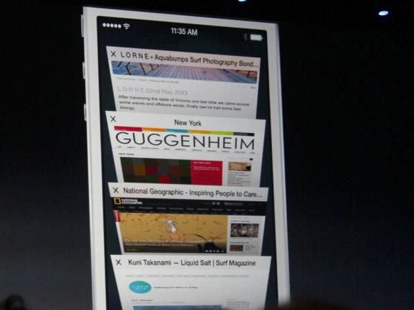 Mobile Safari tab browsing