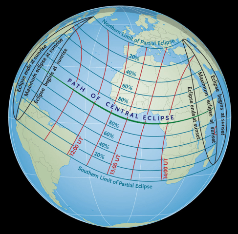 Image: Solar eclipse viewing area