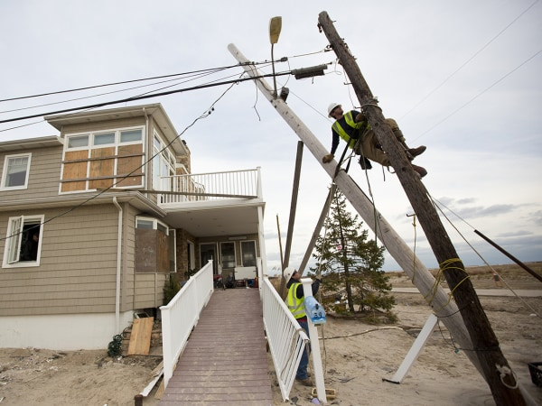 Storm damage in Breezy Point, NY