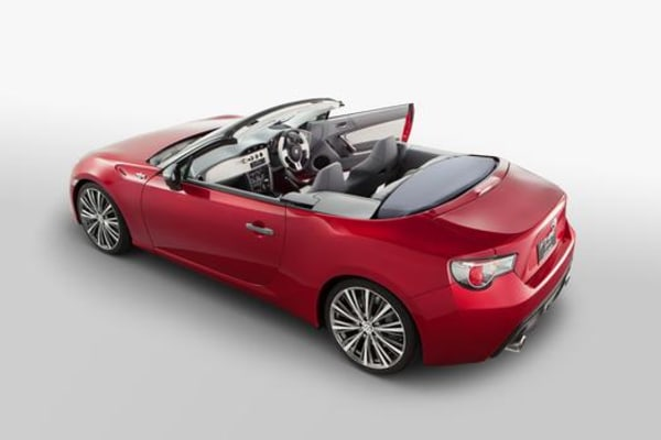 The Toyota FT-86 open convertible