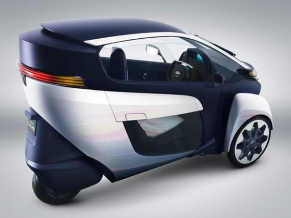 Toyota's i-Road combines the car with the motorcycle.