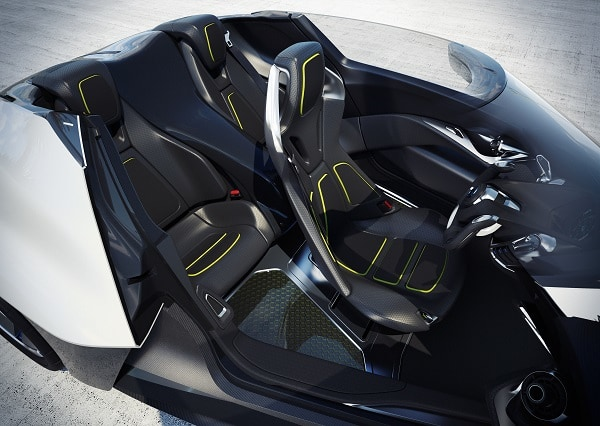 Nissan BladeGlider, debuting at the Tokyo Motor Show, is both the future direction of Nissan electric vehicles and an exploratory prototype of the Nissan ZEOD racecar.