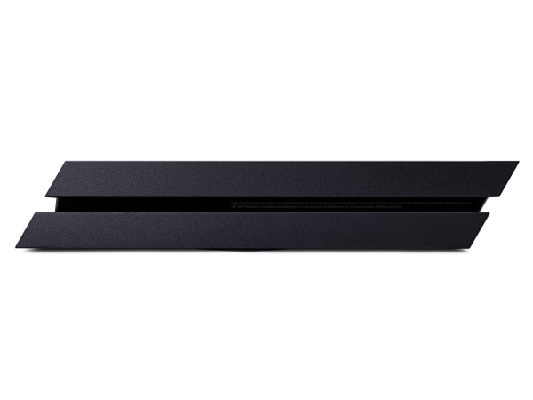 The body of the PS4 is dramatically slanted, giving the console a futuristic look that cleverly conceals some less attractive features like USB and HDMI ports.