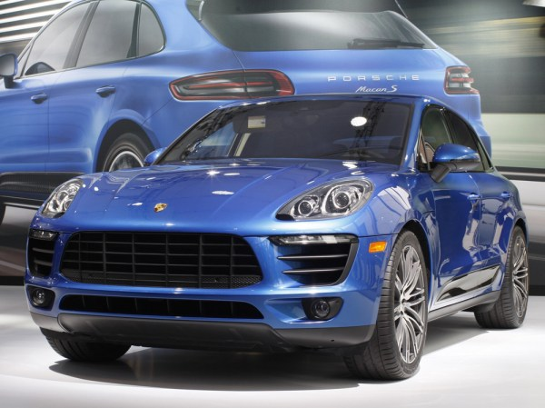 LOS ANGELES, CA - NOVEMBER 20: A Porsche Macan S is shown during media preview days at the 2013 Los Angeles Auto Show on November 20, 2013 in Los Ange...