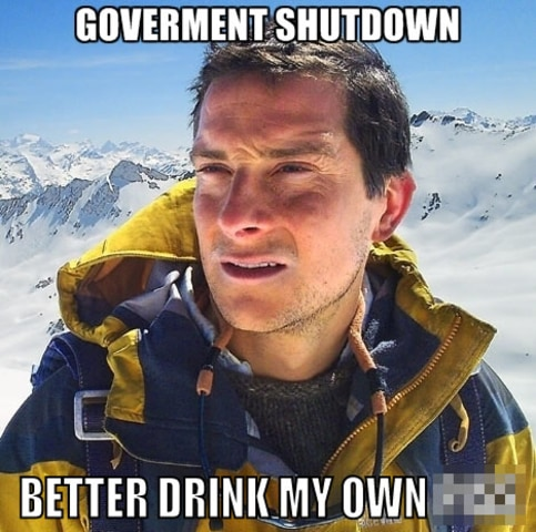 Bear Grylls gov shutdown