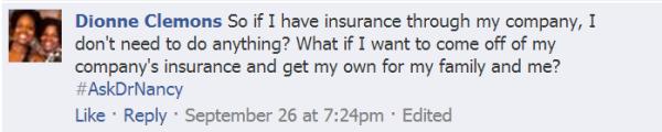Image: Facebook question