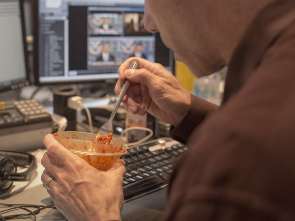 Eating at your desk