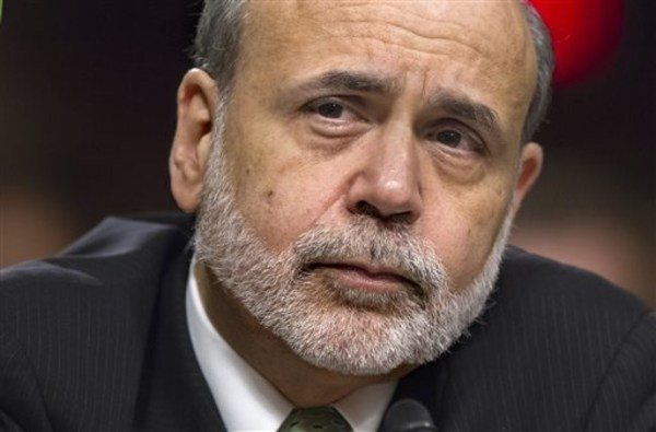 Federal Reserve Board Chairman Ben Bernanke testifies before the Joint Economic Committee about the nation's economy in this June 7, 2012, file photo. Bernanke's term ends in January.