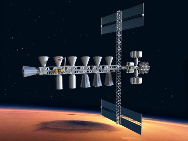 Image: Low Mars orbit way station