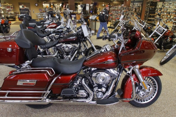 Tourists in Las Vegas can now rent five different kinds of Harley-Davidson motorcycles from a new Enterprise branch.