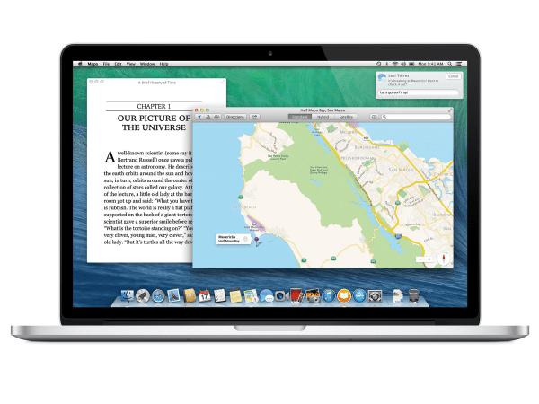 Apple OS X Mavericks on MacBook Pro with Retina screen