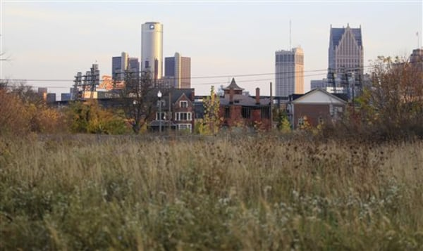 This Oct. 24, 2012, file photo shows an empty field north of Detroit's downtown. Detroit's bankruptcy case is going to trial and the result will determine whether the city can reshape itself in the largest public bankruptcy filing in U.S. history.