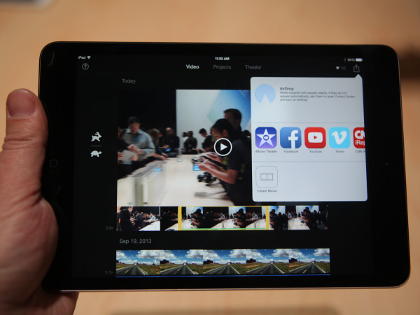 iPad Mini with iMovie
