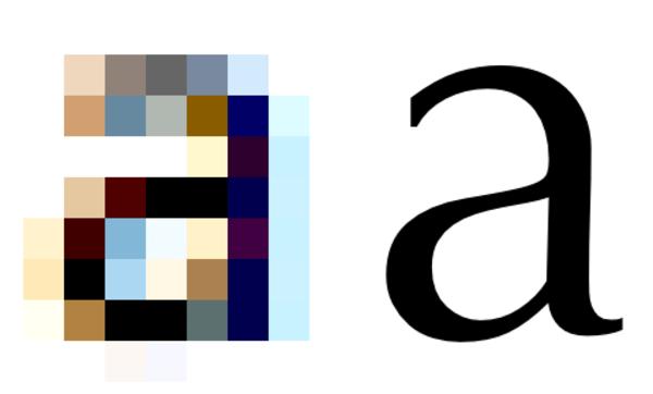 Text resolution comparison