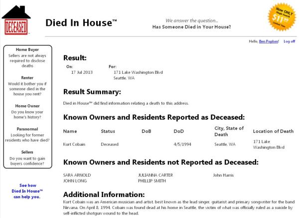 A Diedinhouse report