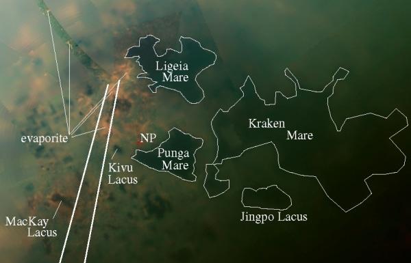Image: Titan lake region