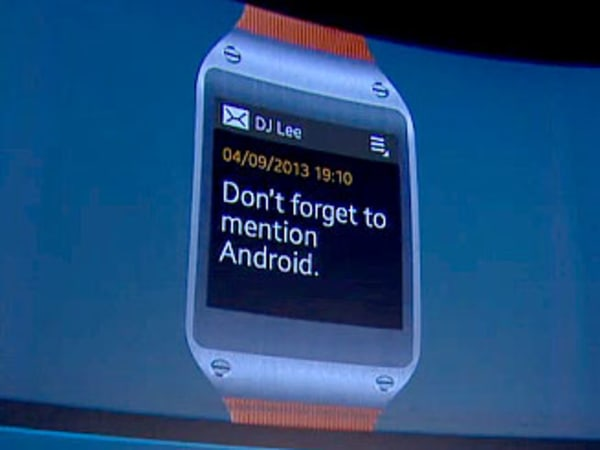 message on a Galaxy Gear watch