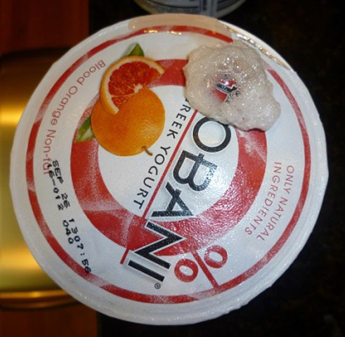 Recalled Chobani yogurt