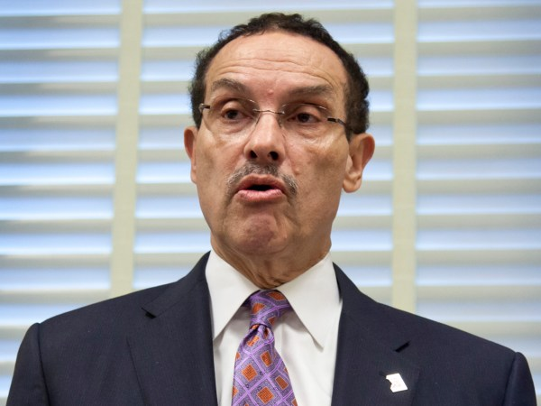 Washington, D.C. Mayor Vincent Gray speaks at a news conference on Capitol Hill in Washington, Tuesday, May 29, 2012, to object to actions by House Re...