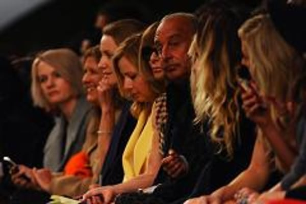Topshop's front row at London Fashion Week.