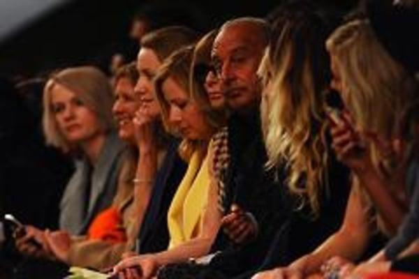 Topshop's front row at London Fashion Week.