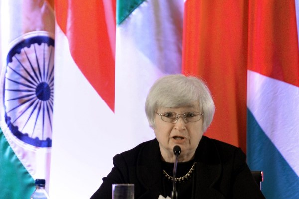 It's a big job, but somebody has to do it. File picture taken on June 3, 2013 showing Federal Reserve Vice Chair Janet Yellen, who is thought to be th...