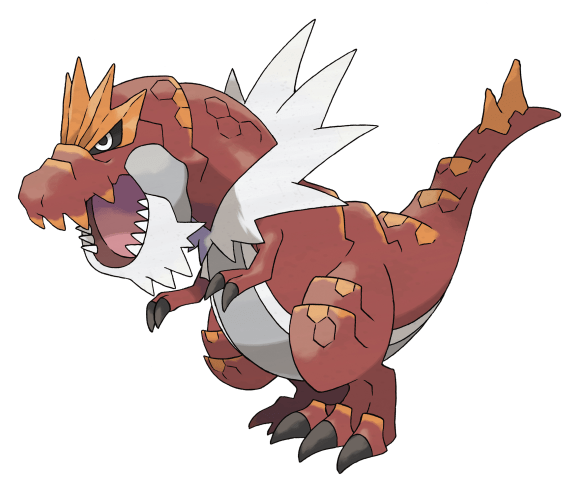 The new game will introduce an undisclosed number of new critters such as Tyrantrum, pictured above. Masuda told NBC News that Game Freak and Nintendo are keeping the total number a secret to let players discover the full amount when the game launches and they can start hunting for the creatures amongst themselves.