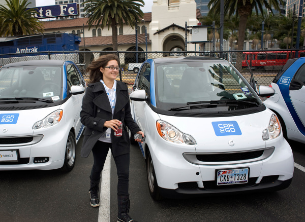 Enrollment in car-sharing services is expected to surge through the end of the decade. Rental-car companies and others, including Daimler AG with its car2go service, are getting in on the action.