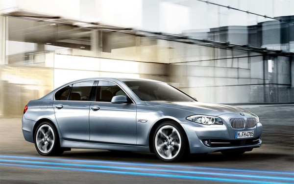 BMW's 5-Series is the subject of a recall involving rear light issues.