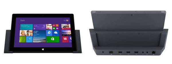 Surface Pro 2 in dock