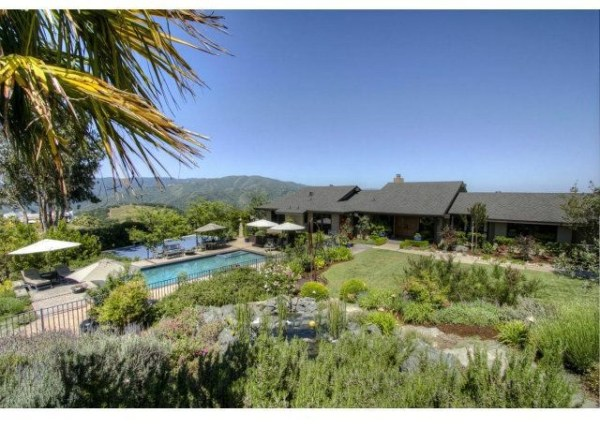 Peggy Fleming's wine estate features 360-degree views, a pool and spa, and numerous decks and patios.