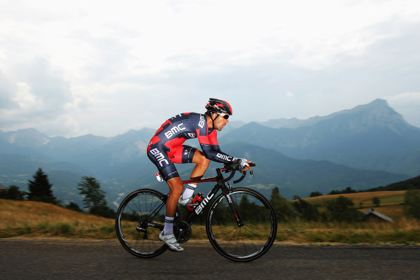 CHORGES, FRANCE - JULY 17:  Amael Moinard of France and BMC Racing Team rides during stage seventeen of the 2013 Tour de France, a 32KM Individual Tim...